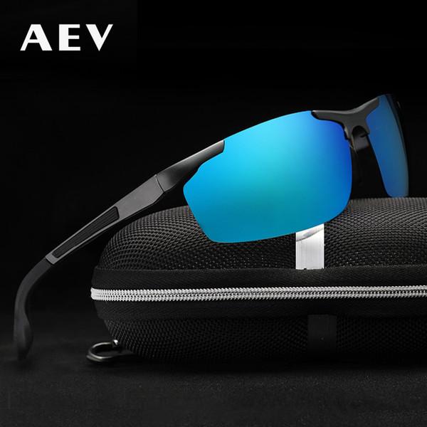 AEV De Alumínio E Magnésio dos homens Óculos De Sol Revestimento Polarizado  Espelho Óculos de Sol 9c5248a88f