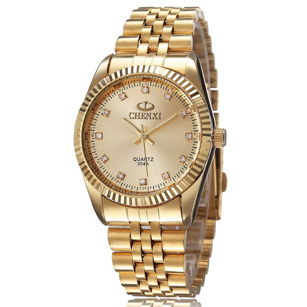 sell like hot cakes! High quality men's gold watch business casual sports waterproof student couple gift table