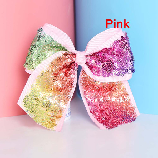 Kids Hairpins Satin Ribbon Big bowknot hairbands girl barrette colorful bow hair clips jojo Hair Accessories 13cm