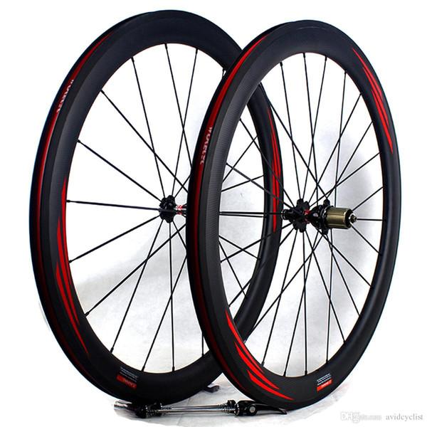 carbon fiber bike road wheels 50mm 700C basalt brake surface clincher tubular road bicycle racing wheelset rim width 25mm 3k matt