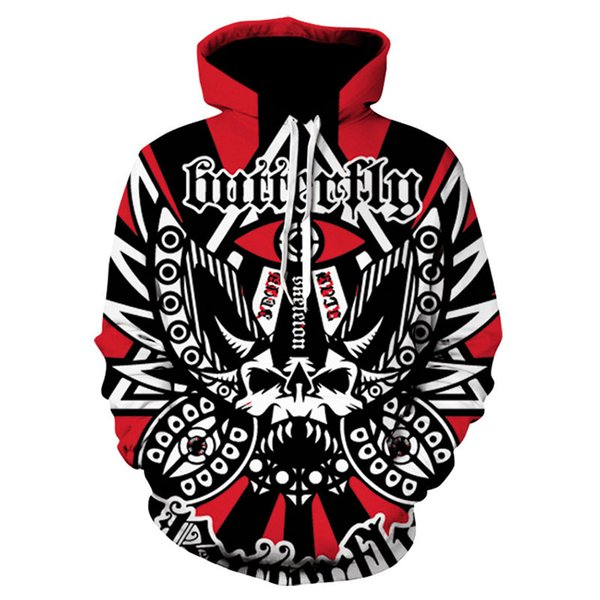 Halloween Autumn Winter Fashion Men/women Hoodies Skull Print Hooded Hoody Sweatshirt 3D Lovely Tracksuits Plus Size 5XL