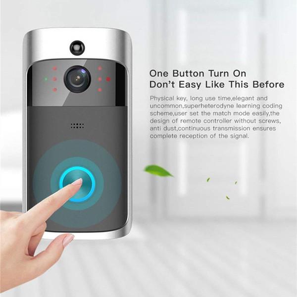 720P HD Wifi Video Türklingel Smart Türklingel Überwachungskamera Echtzeit Video Zwei-Wege-Talk Night Vision PIR und App-Steuerung für iOS Android