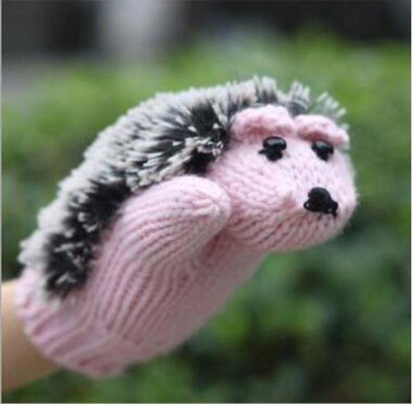 9 Farben Neuheit Cartoon Winter Gestrickte Handschuhe für Frauen Stricken Warm Fitness Handschuhe Hedgehog Erhitzt Villus Handgelenk Handschuhe Igel Handschuhe