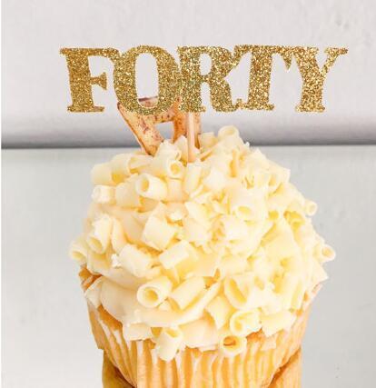 Glitter personalizado número glitter Um primeiro aniversário cupcake toppers baptismo batismo decoração do partido donut food picaretas