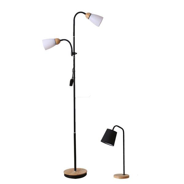 Modern Işık Ahşap Led Çatı Demir Zemin Lambası Yatak Odası Oturma Odası Çalışma Müşteri Hizmetleri Aydınlatma Dekoratif Zemin Lambaları Luminaria