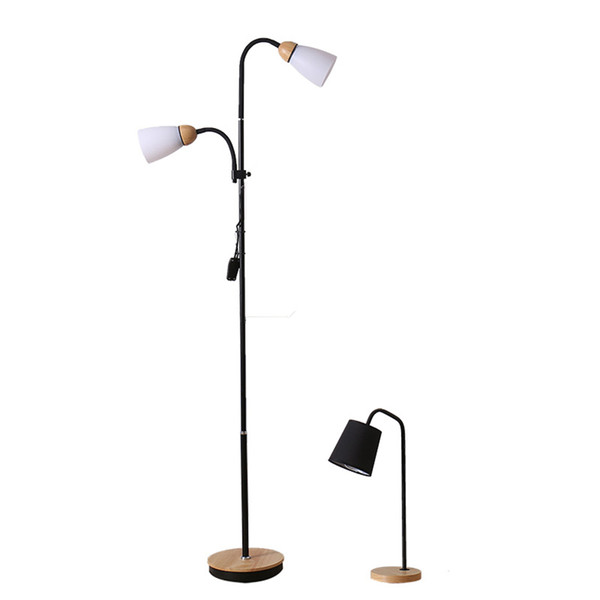 Modern Light Wood Led Loft Iron Floor Lamp Bedroom Living Room Study Customer Service Lighting Decorative Floor Lamps Luminaria