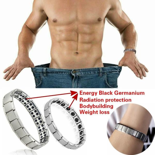 Couple Germanium Titanium Steel Elastic Bracelet Stretch Bracelet Bangle For Men Women Health Energy Ge Power Jewelry New fashion wholesale
