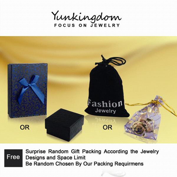 Anello di fidanzamento Yunkingdom per donna Fede nuziale Zircone color oro zircone anelli di cristallo per le donne color oro ALP0108