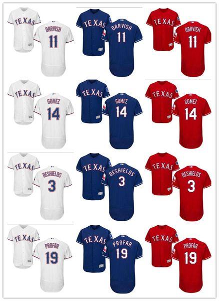 best loved d6ee7 e19d7 2018 Custom Men Texas Rangers Jersey #3 Russell Wilson 3 Delino Deshields  11 Yu Darvish 14 Carlos Gomez 19 Jurickson Profar Baseball Jerseys From ...