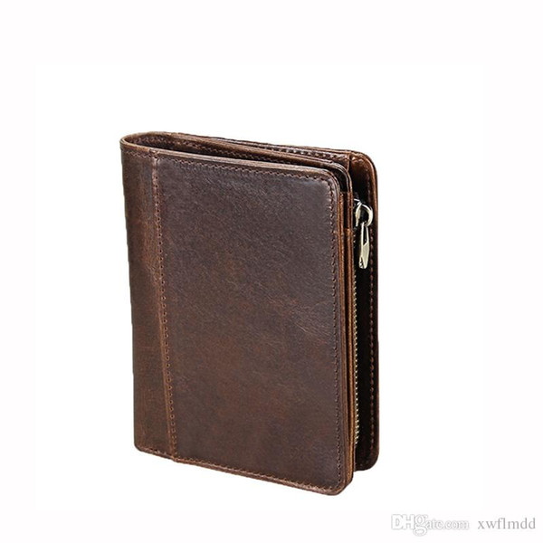 New best quality men leather brand classic luxury wallet casual short paragraph designer cardholder pocket fashion wallet men