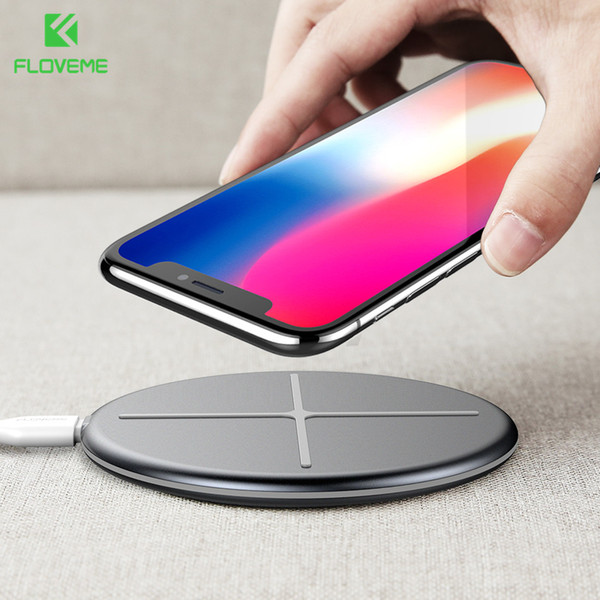 wholesale New Design Wireless Charger For iPhone X 8 Wireless Charger Pad For Samsung S9 S8 S7 S6 Galaxy Note 8 For NEXU S4 S5 S6