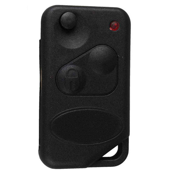 2Buttons Flip Blade Replacement Keyless Entry Remote Fob Key Shell Case For Car Land Rover & Pad