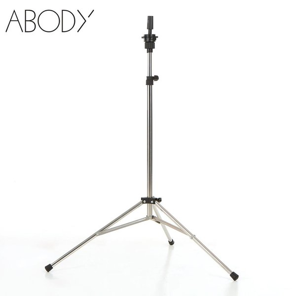 Adjustable Hairdressing Tripod Stand Training Mannequin Head Holder Stainless Steel Manikin Tripod Stand Wig Stands Mold Clamp