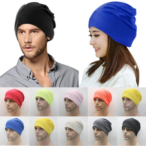 Unisex Womens Men Knit Winter Warm Ski Solid cutton blend Crochet Slouch Hat Cap Beanie Oversized