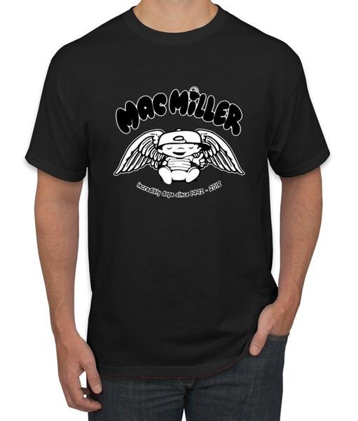 RIP Mac Angel Wings 1992-2018 Herren Musik Fan Tshirt