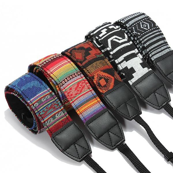 New Color Vintage Hippie Style SLR DSLR Camera Neck Shoulder Strap Belt Durable Cotton for Canon for Nikon Pentax Sony
