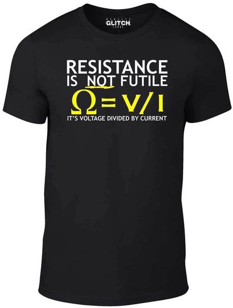 Voltaje para hombre dividido por la camiseta actual - Divertida camiseta electricista broma ciencia
