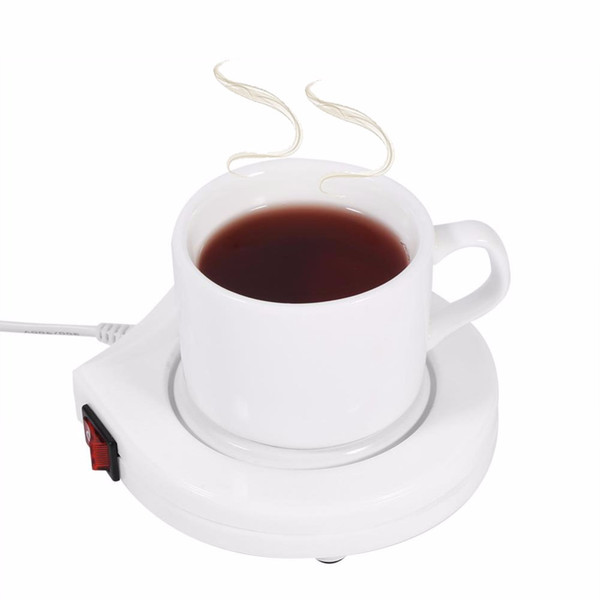 110V US Plug White Electric Powered Drink Cup Warmer Pad Coffee Milk Drink Mug Heater Tray For Office House Winter