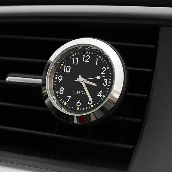 Ornamento del coche Reloj digital Reloj automático Salida de ventilación de aire Clip Automóviles Decoración de interiores Automotriz Reloj Accesorios Regalos