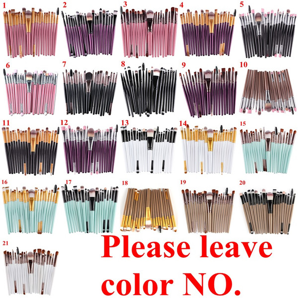 20Pcs Cosmetic Makeup Brushes Set Powder Foundation Eyeshadow Eyeliner Lip Brush Tool Brand Make Up Brushes beauty tools pincel maquiagem