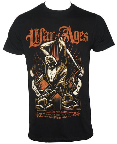 Auténtica guerra de las edades Orgullo de los malvados de los hombres camiseta negra 100% algodón de manga corta O-cuello Tops camiseta de los hombres calientes baratos