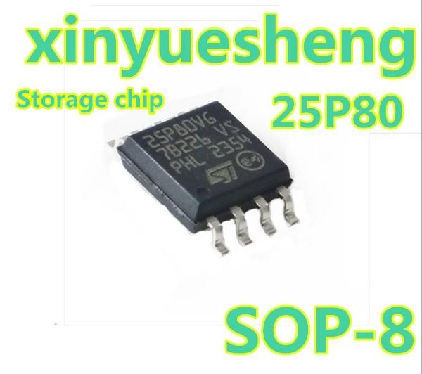 Original M25p80-vmw6tg 25P80VG memory SOP8, a large number of genuine supplies, welcome to order inquiries. A pack of ten