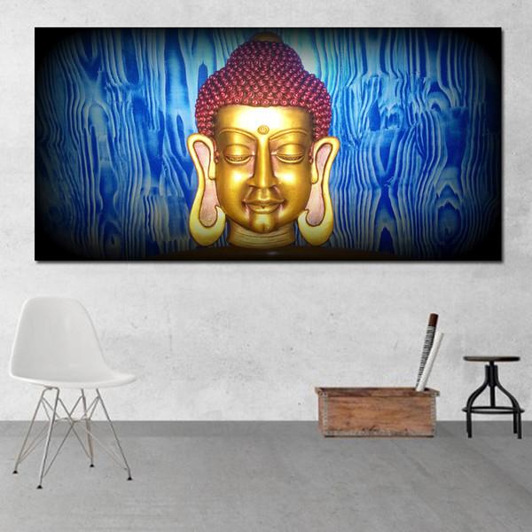1 Panel HD Poster Baskı Buda Boyama Tuval Sanat Dekoratif Boyama Oturma Odası Dekorasyonu Için Modern Resimler Hiçbir Çerçeve