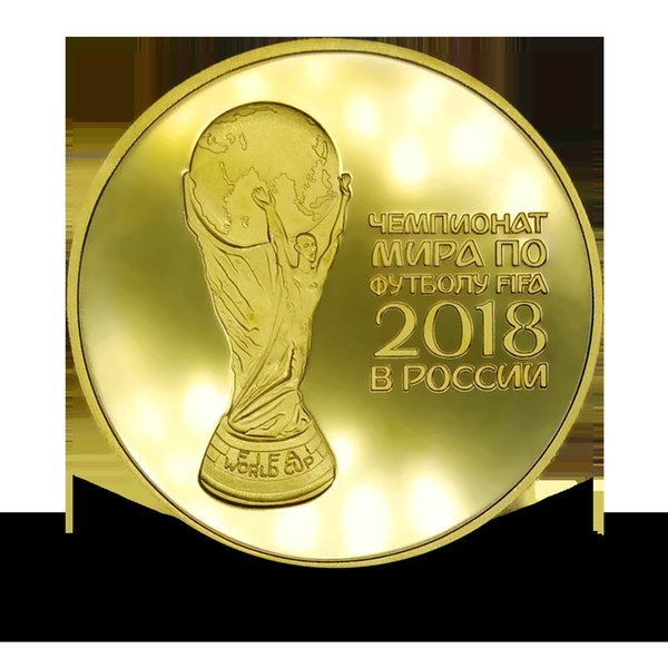 2018 Russia World Cup gold-plated silver coin Sports coin Commemorative coin