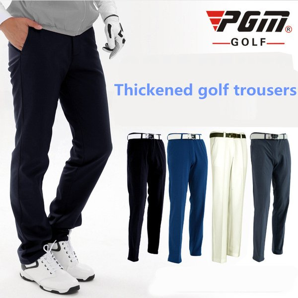 PGM new golf men's trousers add cashmere autumn and winter trousers golf warm waterproof water ball