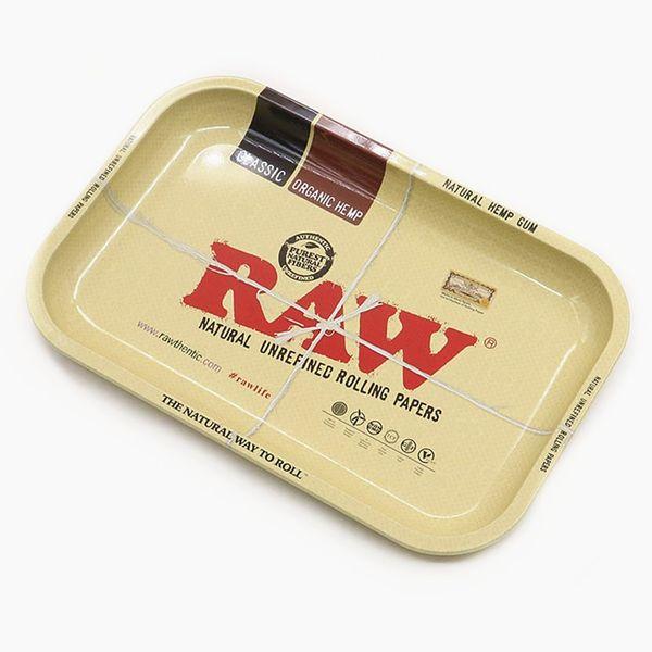 RAW Large size 275 * 175 * 23mm Rotolo di tabacco Vassoio in metallo Rullo a mano Smerigliatrice di tabacco Accessori per sigarette Sigarette utensili Rolling Trays