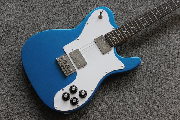 6 cordes guitare électrique / manche en érable / métal bleu TL guitare électrique / livraison gratuite