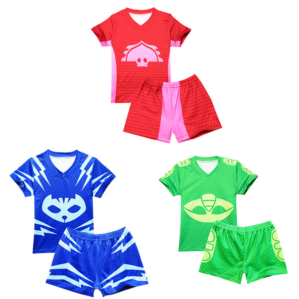 Summer Boys Swimsuit 2pcs Tops and Board Shorts Swim Set Baby Boy Clothes Baby Kids Clothing Boys 3 Colors Swimwear Cartoon Kids Beachwear