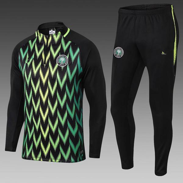MUSA 2018 world cup Nigeria soccer Jacket Tracksuit 18 19 chandal Nigeria Okechukwu Dayo Ojo Survetement Football Training Kits