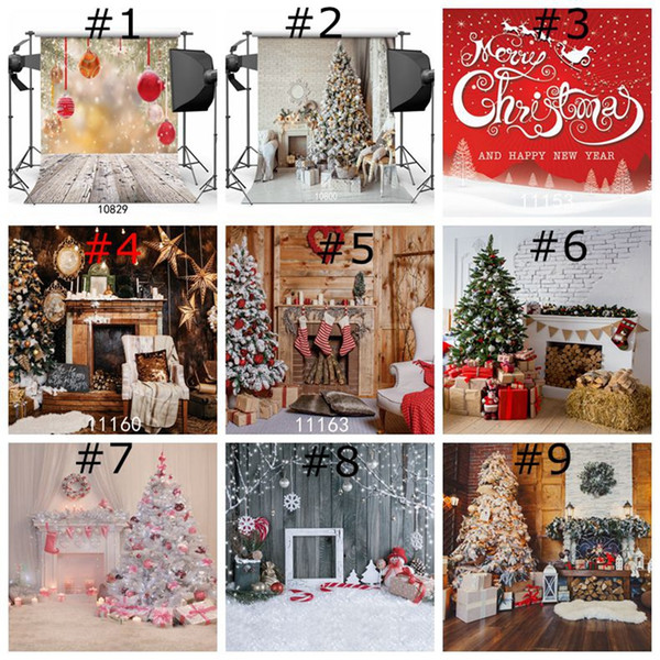 Christmas Gifts Vinyl Photography Backdrop Customized Photo Background Studio Prop Home Decor Wallpapers for xmas christmas day