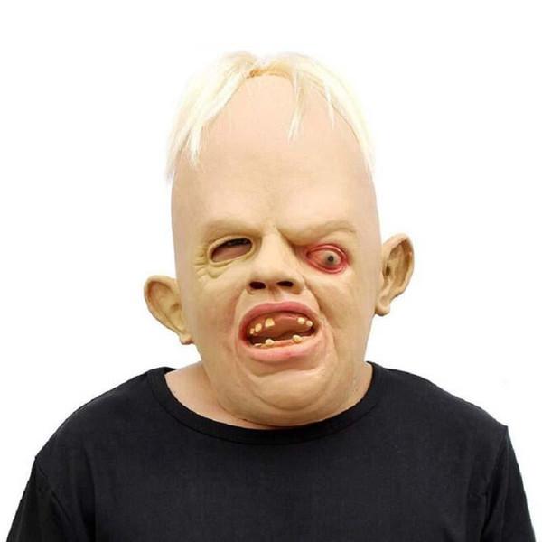 2017 Novo Dia Das Bruxas Squinting Horror Máscara Monstro Máscaras de Zumbi Halloween Casa Assombrada Capa de Zumbi Terrível Máscara Frete Grátis