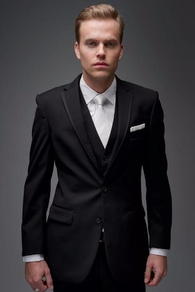Latest Coat Pants Designs Black Men Suits for Wedding Formal Best Men Blazer Business Suits Prom 3 Piece Jacket+Pants+Vest