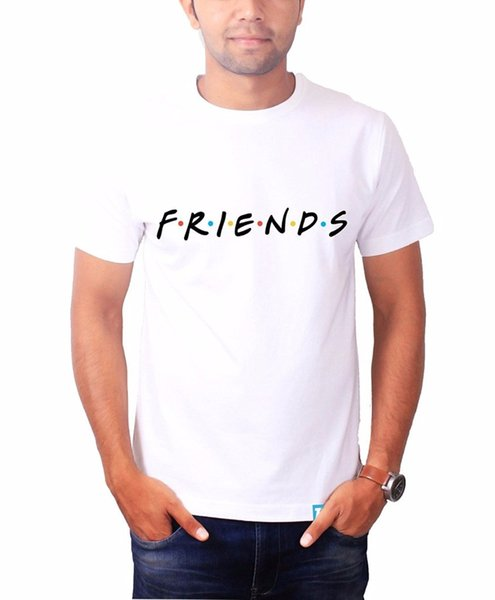 Novelty T Shirts Short Friends TV Show Merchandise TV Show Tshirts Men Printing O-Neck Shirt