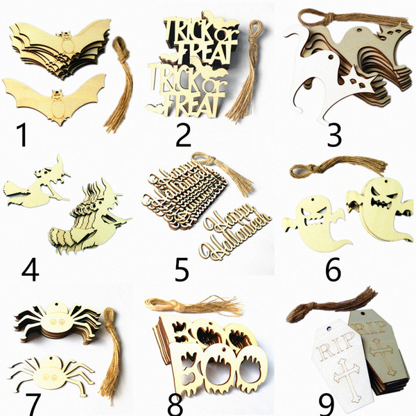 halloween decorations laser cut wood outdoor halloween decor party supplies Hanging Door and Wall Decorations, For Home, School, Office