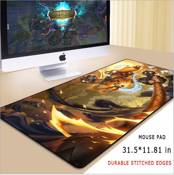 top popular New Mouse Pad Mat Non-slip Rubber Base Oversized 31.5*11.81 Inches Stitched Edges LOL Mouse Pad For PC , Laptop & Computer 2020