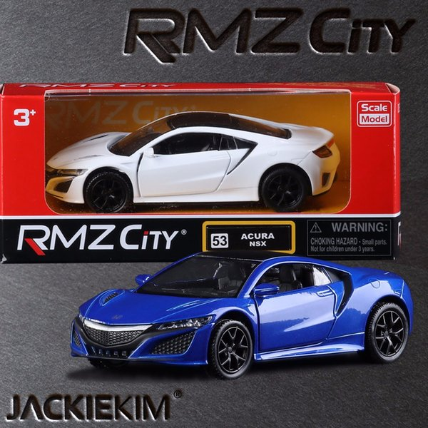 1:36 Scale RMZ city Acura NSX Sport Car Education Model Classical Pull back Die cast Metal toy For Collection Gift Free Shipping