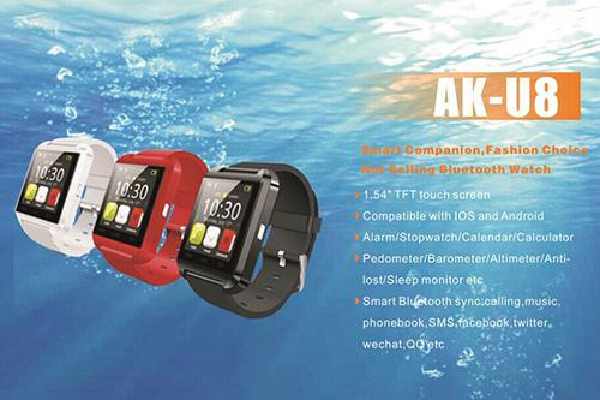 Bluetooth Smart Watch U8 Smartwatch U Watch For iOS iPhone Samsung Sony Huawei Xiaomi Android Phones Good as GT08 DZ09