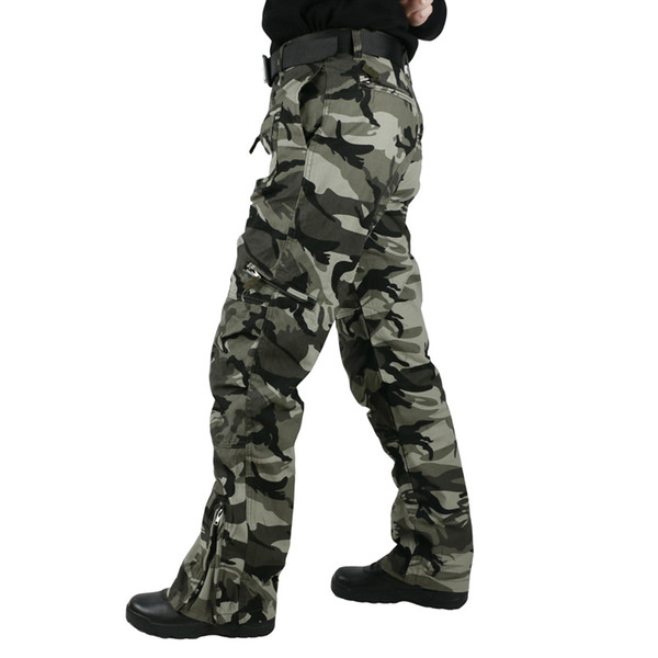 5d69a4c7b31 Tactical Pants Male Camo Jogger Casual Plus Size Cotton Trousers Multi  Pocket Style Army Camouflage Men s
