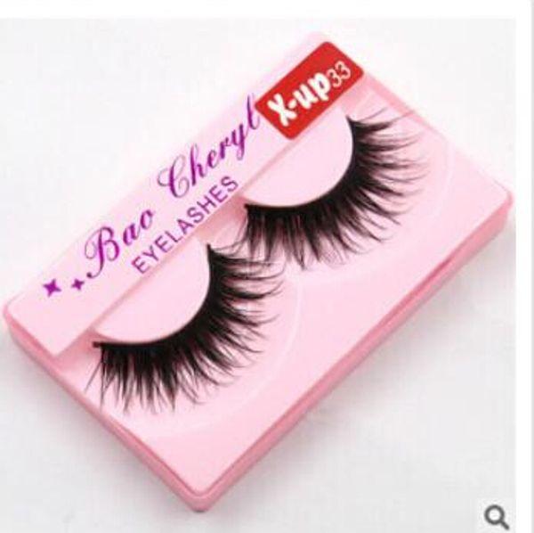 100% Supernatural Lifelike handmade false eyelash 3D strip mink lashes thick fake faux eyelashes Makeup beauty