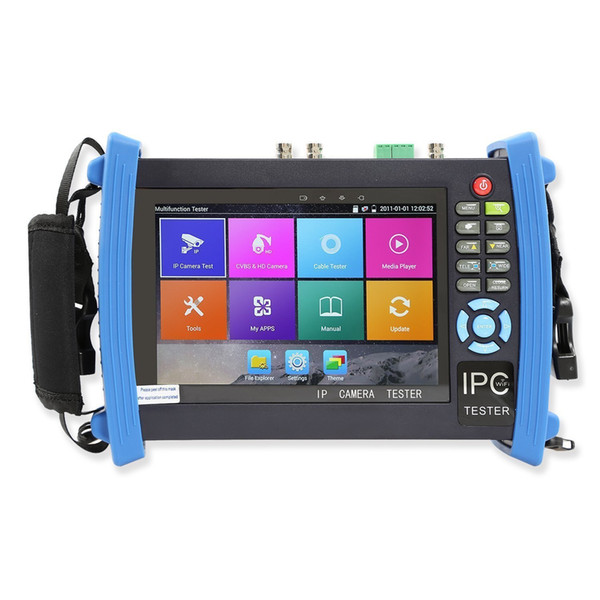 7 Inch 6 in 1 H.265 4K HD CCTV Tester Monitor IP TVI AHD CVI SDI analog cameras tester 8MP 5MP PTZ Cable Tracer ONVIF WIFI POE 12V2A Output