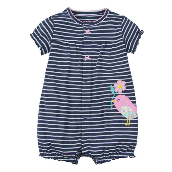 cae2a43104558 2019 Baby Cartoon Rompers Summer Baby Jumpsuits Girl Clothes Girl Dress  Cotton Newborn Baby Clothes Roupas Bebe Infant Jumpsuits Kids Clothes From  ...