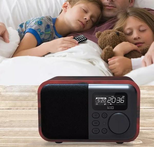 D90 wooden Bluetooth speakers alarm clock U disk plug-in card mini audio mini bass retro radio LLFA