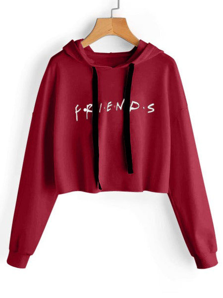 2020 Women FRIENDS Letters Short Hoodie Autumn Fashion Cute Sweatshirts Clothes From Malewardrobe, $44.62 | DHgate.Com