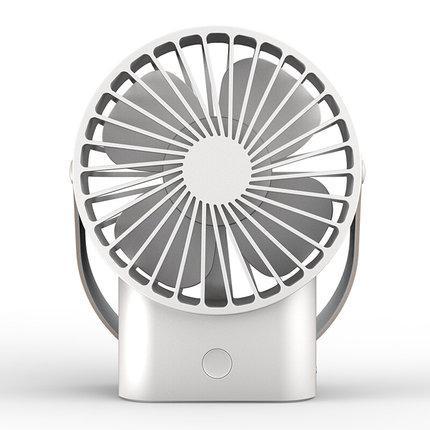 best selling Portable USB Fan 3 Speed Adjustable Cooler Mini Fan 2500mAh Rechargeable Handy Small Desk Desktop USB Cooling Fan