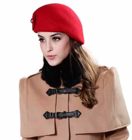 BTFL Hot NEW sexy fashion Women Felt French Beret Caps Felt Pillbox Hat Fashion Amazing