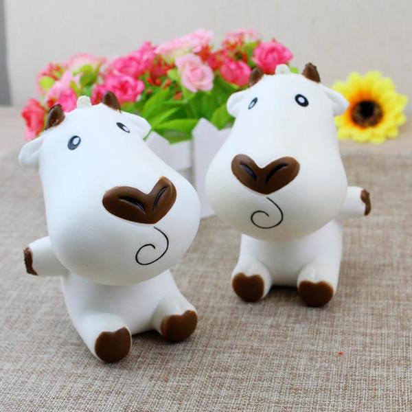 20pc Cow 11cm*8.5cm 65g pu squishy kawaii jumbo slow rising Squishy decompression charm squeeze toy free shipping